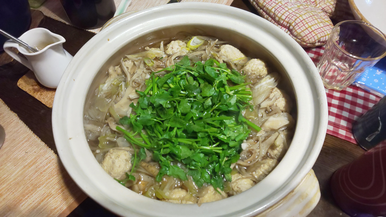 【今日のぬぬめし】 鶏だんご鍋